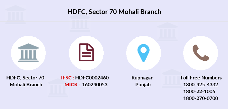 Hdfc-bank Sector-70-mohali branch