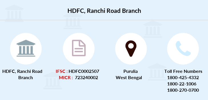 Hdfc-bank Ranchi-road branch