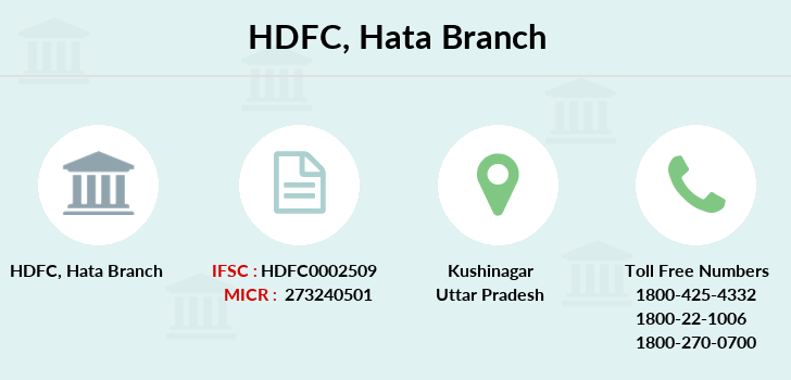 Hdfc-bank Hata branch