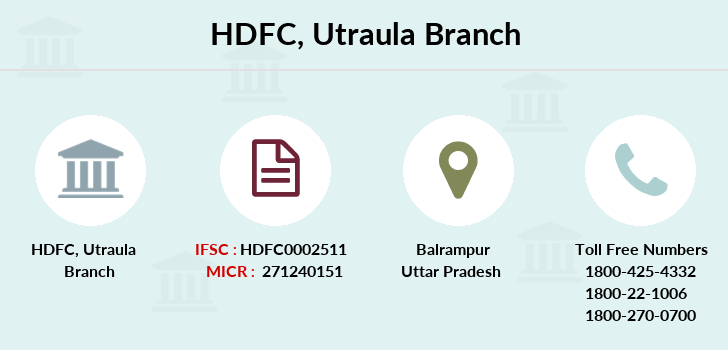 Hdfc-bank Utraula branch