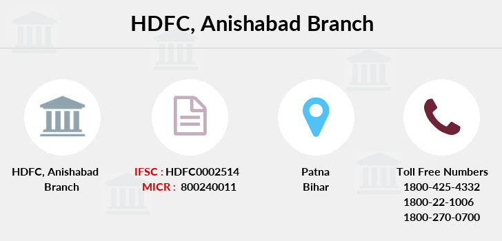 Hdfc-bank Anishabad branch