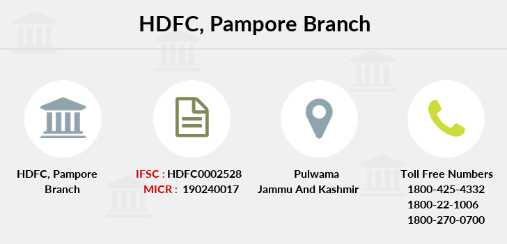 Hdfc-bank Pampore branch