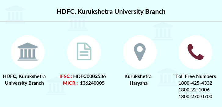 Hdfc-bank Kurukshetra-university branch