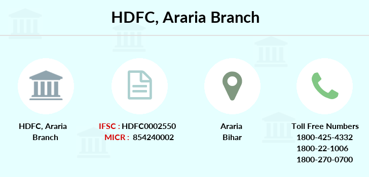 Hdfc-bank Araria branch