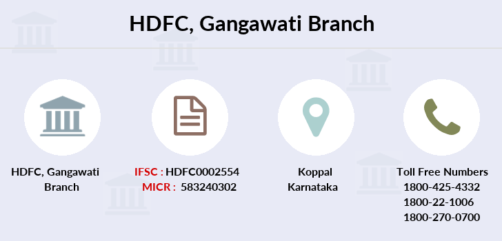 Hdfc-bank Gangawati branch