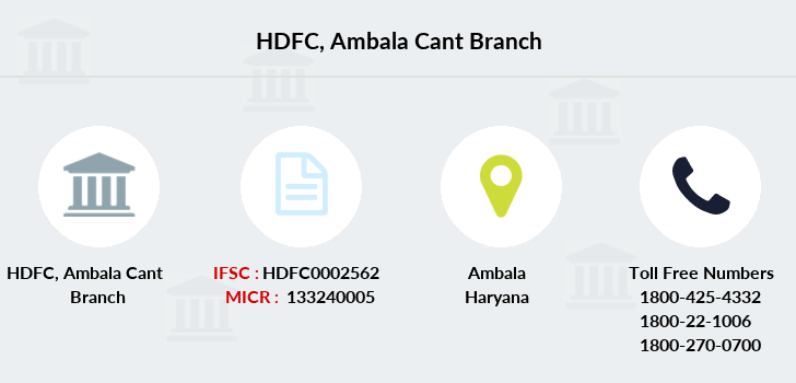 Hdfc-bank Ambala-cant branch