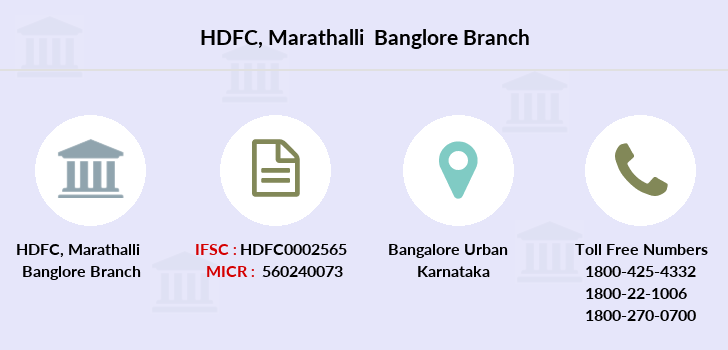 Hdfc-bank Marathalli-banglore branch