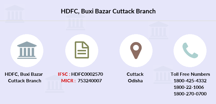 Hdfc-bank Buxi-bazar-cuttack branch