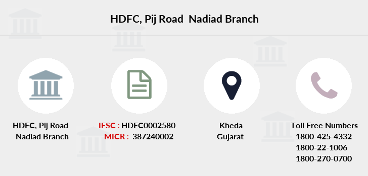 Hdfc-bank Pij-road-nadiad branch