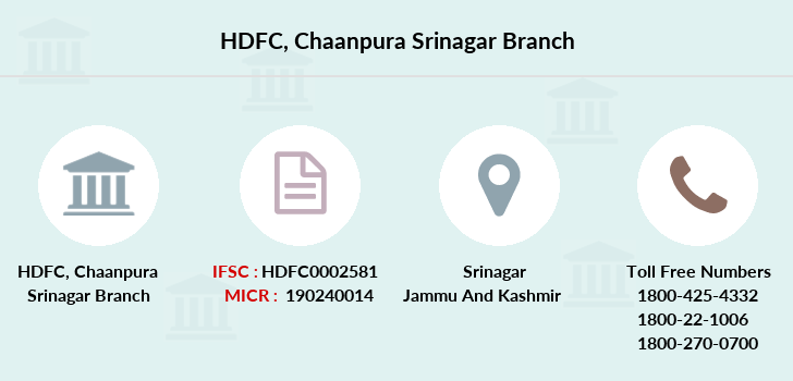 Hdfc-bank Chaanpura-srinagar branch