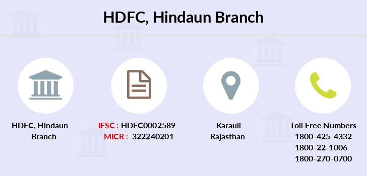 Hdfc-bank Hindaun branch