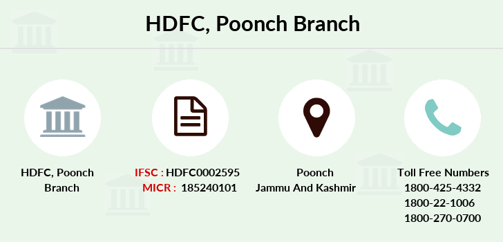 Hdfc-bank Poonch branch