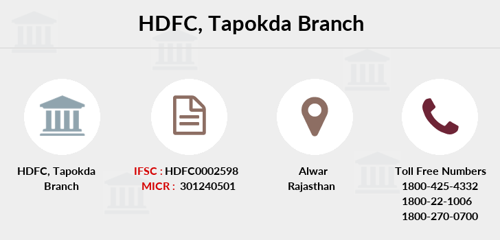 Hdfc-bank Tapokda branch