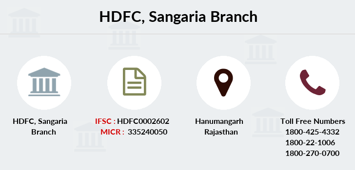 Hdfc-bank Sangaria branch