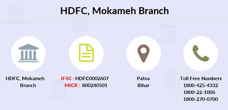 Hdfc-bank Mokameh branch
