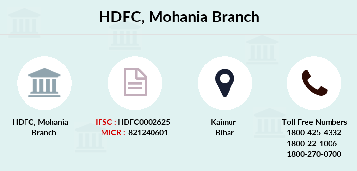 Hdfc-bank Mohania branch