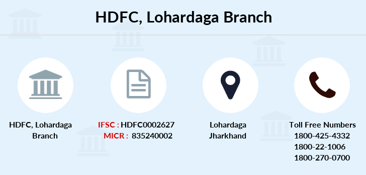 Hdfc-bank Lohardaga branch