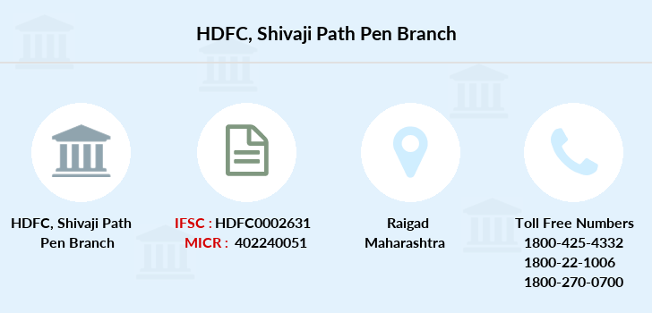 Hdfc-bank Shivaji-path-pen branch