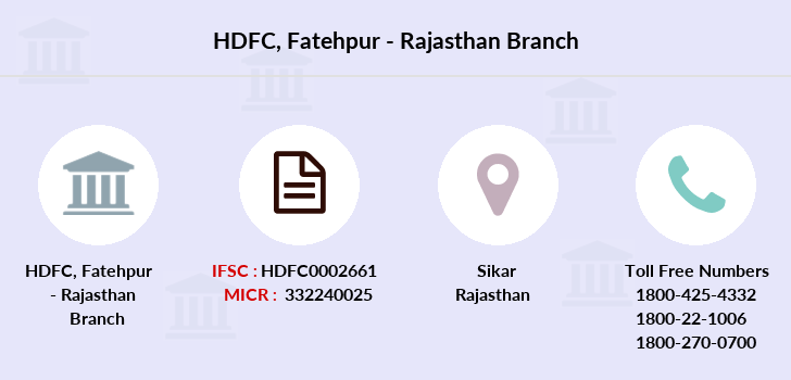 Hdfc-bank Fatehpur-rajasthan branch