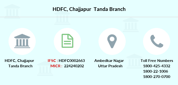 Hdfc-bank Chajjapur-tanda branch