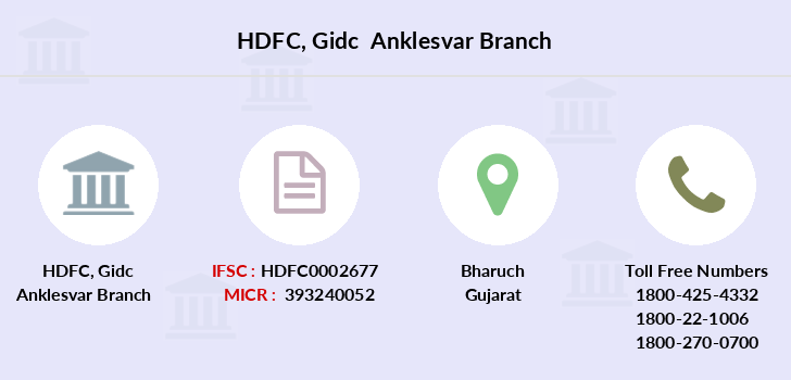 Hdfc-bank Gidc-anklesvar branch