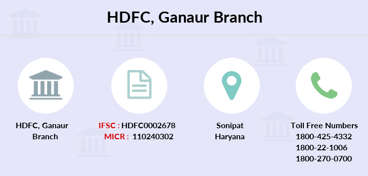 Hdfc-bank Ganaur branch