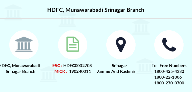 Hdfc-bank Munawarabadi-srinagar branch