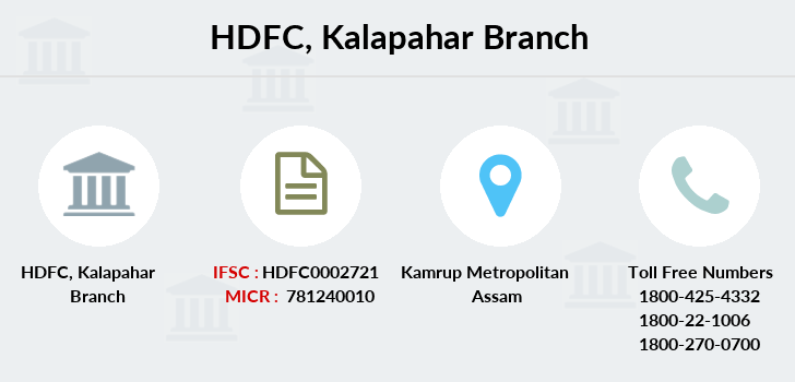 Hdfc-bank Kalapahar branch