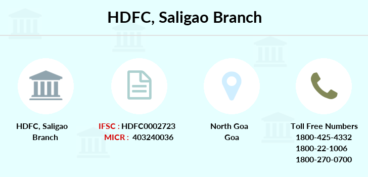 Hdfc-bank Saligao branch