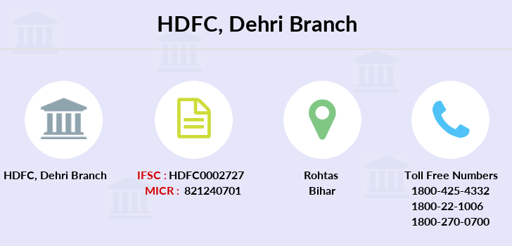 Hdfc-bank Dehri branch