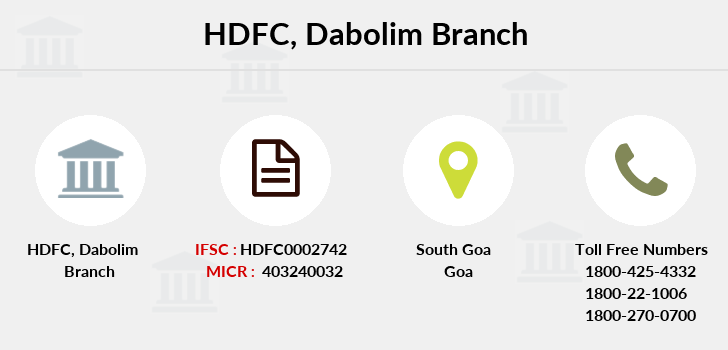 Hdfc-bank Dabolim branch