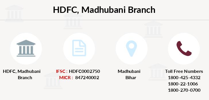 Hdfc-bank Madhubani branch