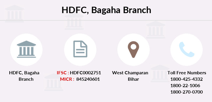Hdfc-bank Bagaha branch