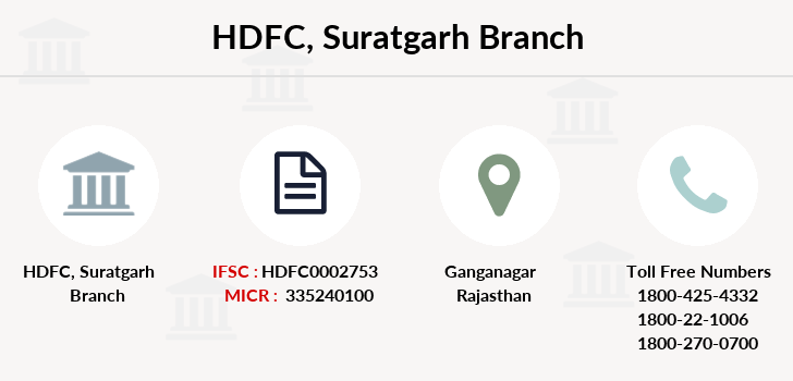 Hdfc-bank Suratgarh branch