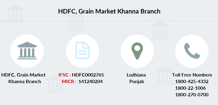Hdfc-bank Grain-market-khanna branch