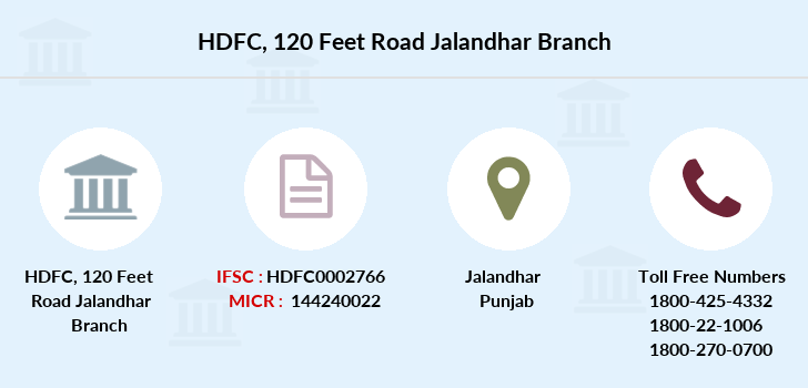 Hdfc-bank 120-feet-road-jalandhar branch