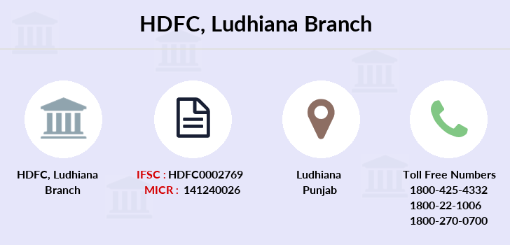Hdfc-bank Ludhiana branch