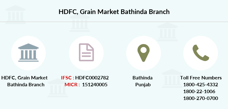 Hdfc-bank Grain-market-bathinda branch