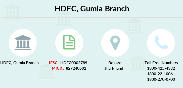 Hdfc-bank Gumia branch