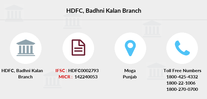 Hdfc-bank Badhni-kalan branch
