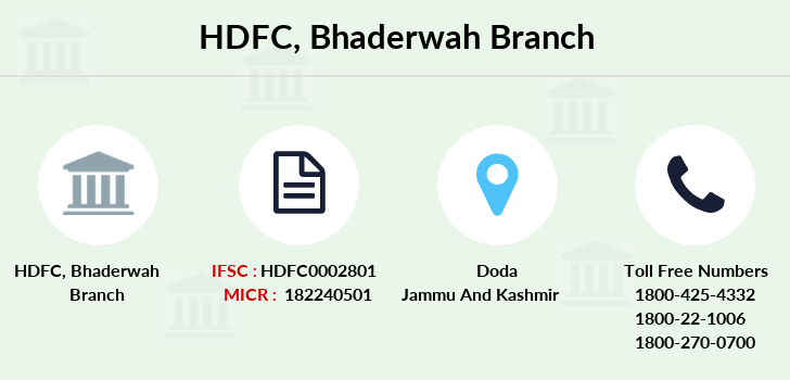 Hdfc-bank Bhaderwah branch