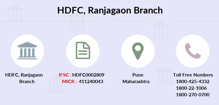 Hdfc-bank Ranjagaon branch
