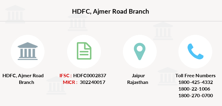 Hdfc-bank Ajmer-road branch