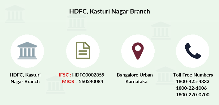 Hdfc-bank Kasturi-nagar branch