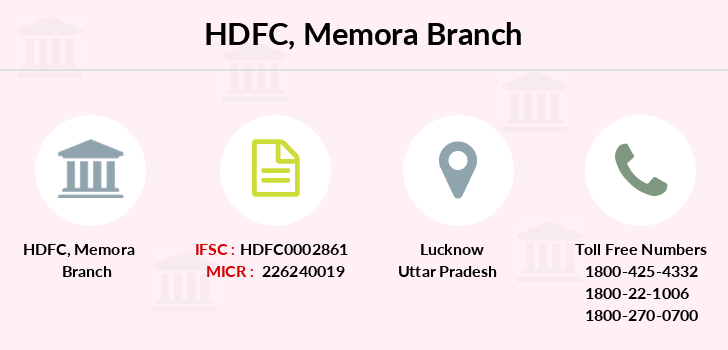 Hdfc-bank Memora branch