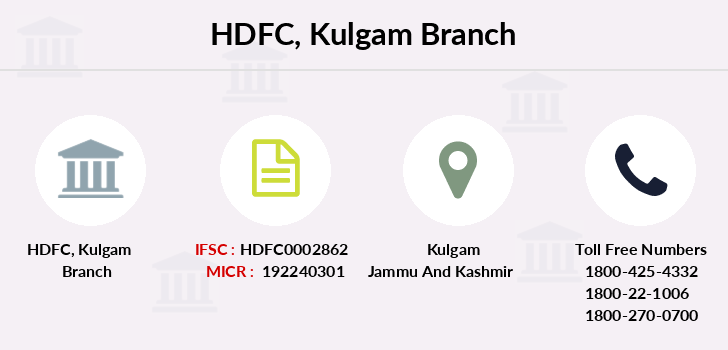 Hdfc-bank Kulgam branch