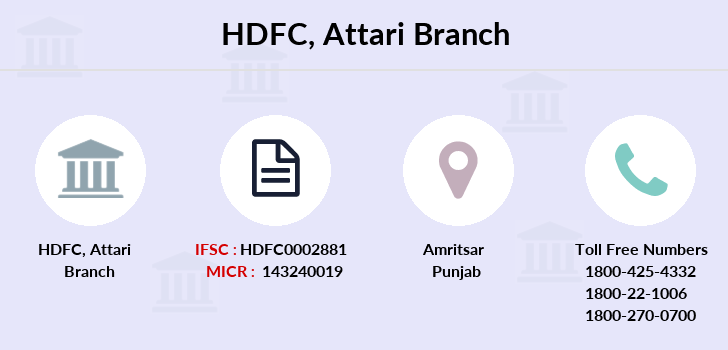 Hdfc-bank Attari branch