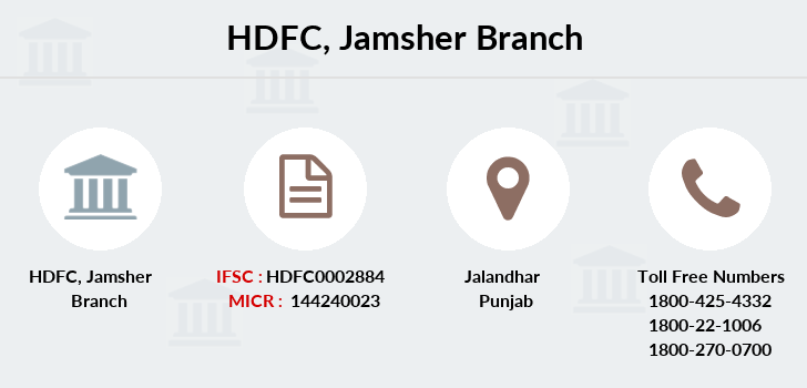 Hdfc-bank Jamsher branch
