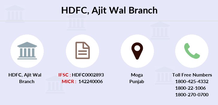 Hdfc-bank Ajit-wal branch