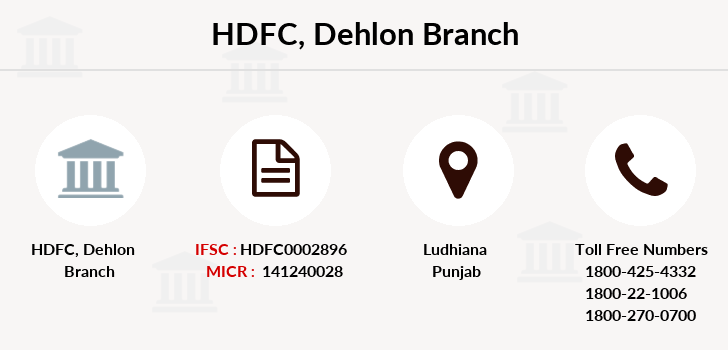 Hdfc-bank Dehlon branch